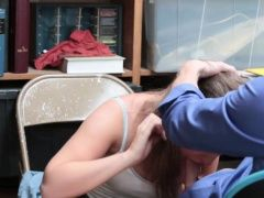 Teen shoplifter Brooke Bliss...