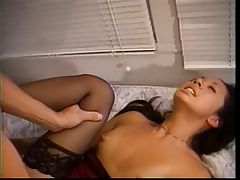 Bitch in black nylons banged