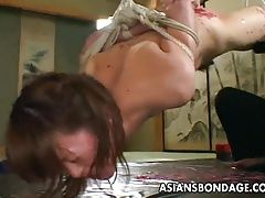 Asian bitch goes through a rough...
