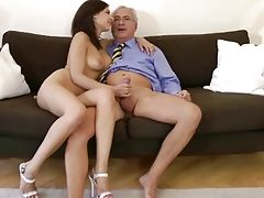Brunette gets her pussy and ass...