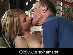 xhamster Old John nails Candy's tiny...