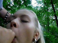 xhamster Blonde Russian teen suck outdoor