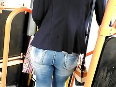 xhamster Nice blonde jeans butt in bus