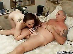 Teen Elisa Rides Old Dude's...