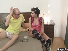 Young chick takes rough banging