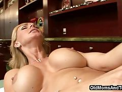 MILF nipples and pussy massage