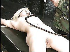 Pretty blonde slave is captured...
