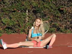xhamster Blonde Teen Playing Tennis And...