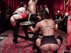 Hot Babes Get Dominated By Big...