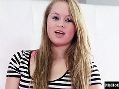 Pretty blonde 18yearold, Madison...