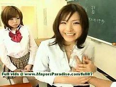 Nao Ayukawa and Rio Hanasaki...