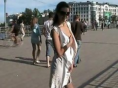 Naughty in public Nude cuttie on...