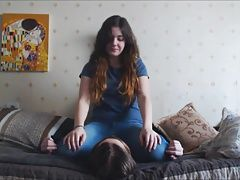 Teen Sitting on Stomach