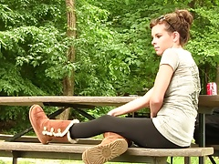 xhamster Amy in Uggs boot shoeplay