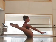 Flexible sexy ballerina girl