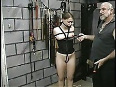Chick in bondage gets teased by...