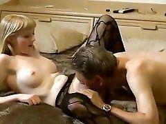 Young blonde fucks older man