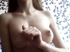 girl playing with her nice tits