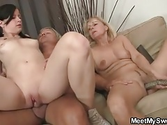 Teen slut involves parents into...