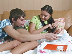 Young tiny stepsister blowjob...