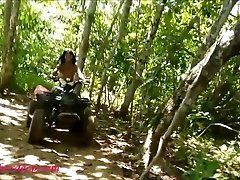 teen heather goes atving in...