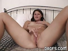 Real girlfriend rides a cock