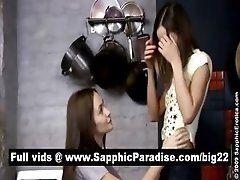 Stunning brunette lesbos licking...