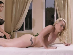 Teen AJ gets free massage and a...
