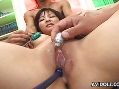xhamster Busty brunette slut has a toy...