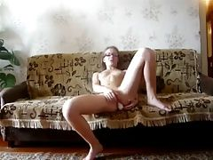 Young Skinny Teen Girl Play Solo...