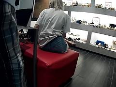 xhamster Shoeplay tight shorts booty...
