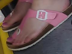 Pink teen feet