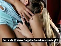 xhamster Angelic blonde lesbias kissing...