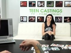 Brunette teenie Kallie Jo gets...