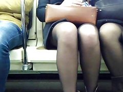 Young dumm girls in metro)