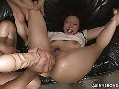 Her slick and wet pussy getting...